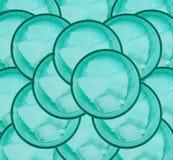 Hintergrund des Eises und der grünen Schale Lizenzfreie Stockfotografie