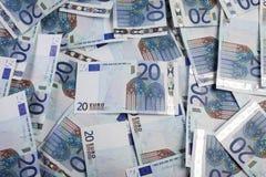 Hintergrund des Euros 20 Stockfotografie