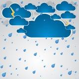 Hintergrund des falschen Wetters. Stockbilder