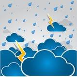 Hintergrund des falschen Wetters. Stockbild