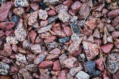 Hintergrund des farbigen Schutts aus den Grund lizenzfreie stockbilder