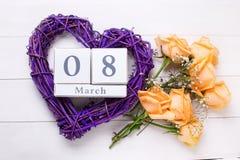 Hintergrund des Feiertags am 8. März Lizenzfreie Stockbilder