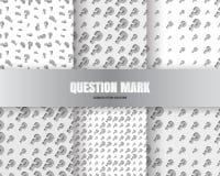 Hintergrund des Fragezeichen-3d Stockbilder
