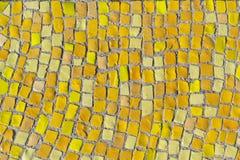 Hintergrund des gelben Mosaiks Lizenzfreies Stockbild