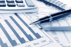 Hintergrund des Geschäftsdiagramms Stockfotos