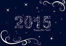 Hintergrund des glücklichen neuen Jahres stock abbildung