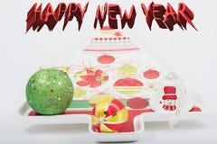 Hintergrund des glücklichen neuen Jahres stockfotografie