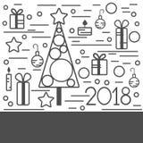 Hintergrund des glücklichen neuen Jahres Auch im corel abgehobenen Betrag Lizenzfreie Stockfotos
