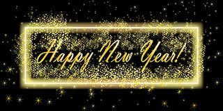 Hintergrund des glücklichen neuen Jahres Grußkartendesignschablone Auch im corel abgehobenen Betrag Fahnenschablone vektor abbildung