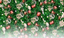 Hintergrund des glücklichen neuen Jahres und der frohen Weihnachten lizenzfreies stockfoto