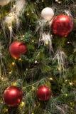 Hintergrund des glücklichen neuen Jahres und der frohen Weihnachten Lizenzfreie Stockbilder