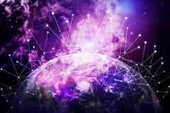 Hintergrund des globalen Netzwerks lizenzfreie stockfotos