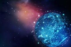 Hintergrund des globalen Netzwerks lizenzfreies stockfoto