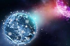 Hintergrund des globalen Netzwerks stockfoto