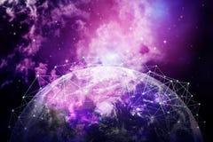 Hintergrund des globalen Netzwerks lizenzfreies stockbild