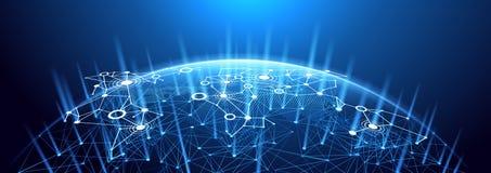 Hintergrund des globalen Netzwerks lizenzfreie abbildung