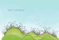 Hintergrund des grünen Grases Glückliche Weltsammlung Stockbild