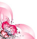 Hintergrund des Grunge Valentinsgrußes Lizenzfreie Stockbilder