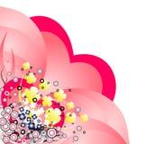 Hintergrund des Grunge Valentinsgrußes stock abbildung
