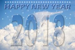 Hintergrund des guten Rutsch ins Neue Jahr 2108 Lizenzfreie Stockbilder