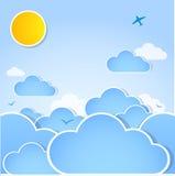 Hintergrund des guten Wetters. Sonniger Tag stock abbildung