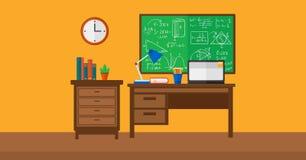 Hintergrund des Innenraums des Raumes für Schüler Lizenzfreie Stockbilder