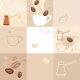 Hintergrund des Kaffees Stockfotos