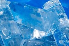 Hintergrund des kalten Eises Stockfoto