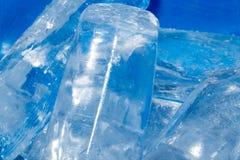 Hintergrund des kalten Eises Stockfotos