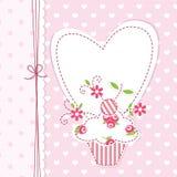 Hintergrund des kleinen Kuchens Stockbilder