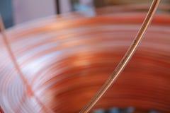 Hintergrund des kupfernen Kabels Stockbilder