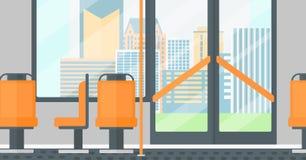 Hintergrund des modernen leeren Stadtbusses Stockfotos