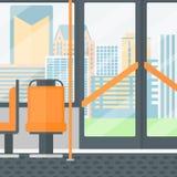 Hintergrund des modernen leeren Stadtbusses Lizenzfreie Stockfotografie
