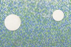 Hintergrund des Mosaikziegelsteines und -kreises. Lizenzfreies Stockbild