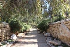 Hintergrund des Naturpark-Gartens draußen Stockfotos