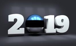 Hintergrund des neuen Jahres 2019 lizenzfreie stockfotos
