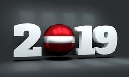 Hintergrund des neuen Jahres 2019 lizenzfreies stockbild
