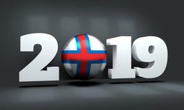 Hintergrund des neuen Jahres 2019 stockfoto