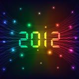 Hintergrund des neuen Jahres 2012 Stockfotos