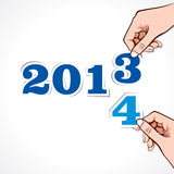 Hintergrund des neuen Jahres Lizenzfreies Stockbild