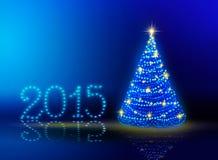 Hintergrund 2015 des neuen Jahres Lizenzfreie Stockfotografie