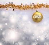 Hintergrund 2015 des neuen Jahres Stockfoto
