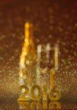 Hintergrund des neuen Jahres Stockfotos