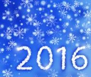 Hintergrund 2016 des neuen Jahres Lizenzfreie Stockfotos