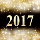 Hintergrund 2017 des neuen Jahres Gold Lizenzfreie Stockfotos