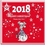 Hintergrund des neuen Jahres mit Baum spielt von den Schneeflocken Kann als Fahne oder Plakat verwendet werden Auch im corel abge Stockfotos