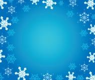 Hintergrund des neuen Jahres mit Schneeflocken. Stockbild