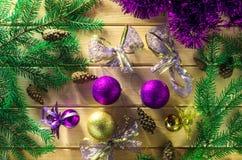 Hintergrund des neuen Jahres oder des Weihnachten Stockfoto