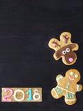 Hintergrund des neuen Jahres und des Weihnachten Stockfotografie