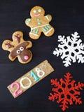 Hintergrund des neuen Jahres und des Weihnachten Stockfotos